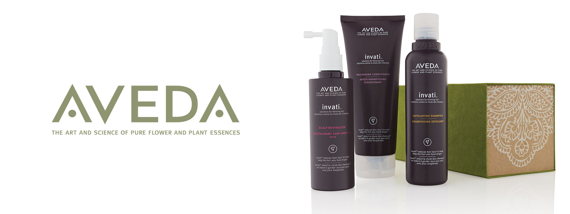 Moda Salon is proud to offer the complete line of AVEDA hair care products. As pioneers in green cosmetics, Aveda seeks to use naturally derived, plant-based ingredients. In addition, they are activists in fair and responsible business practices. Aveda's ethic ensures that your purchase and use of their products will have very little impact on the physical environment and will help indigenous people and communities through fair trade and philanthropy. Enjoy natural beauty with our line of Aveda.
